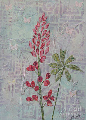 Mixed Media - Pink Lupine by Janyce Boynton