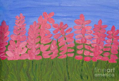 Painting - Pink Lupins by Irina Afonskaya