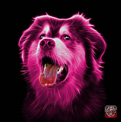 Painting - Pink Malamute Dog Art - 6536 - Bb by James Ahn