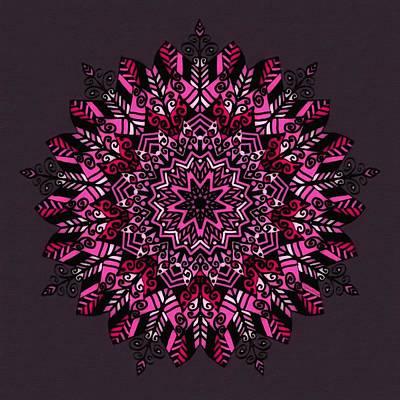 Mixed Media - Pink Mandala Design by Gabriella Weninger - David