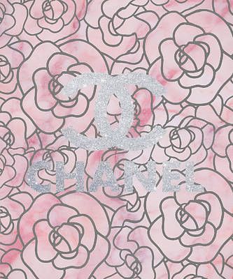Mixed Media - Pink Marble Chanel by Dan Sproul