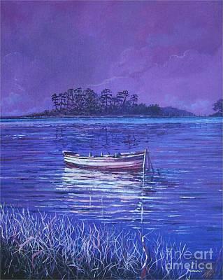 Painting - Pink Marsh by Sinisa Saratlic