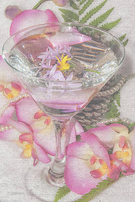 Martini Digital Art - Pink Martini by Pamela Williams