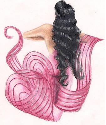 Pink Mermaid Art Print by Scarlett Royal