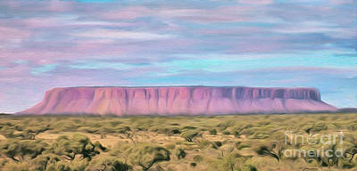 Digital Art - Pink Mesa by Walter Colvin