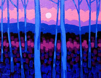Pink Moon Art Print by John  Nolan
