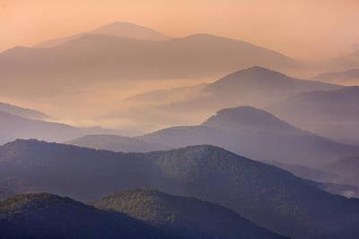 Photograph - Pink Mountain Layers by Ken Barrett