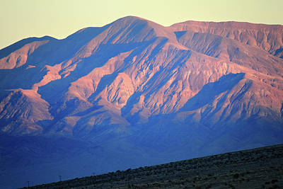 Photograph - Pink Mountain Light In Death Valley by Pierre Leclerc Photography