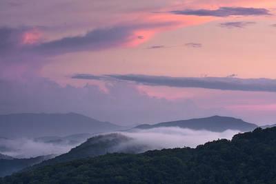 Photograph - Pink Mountain Sunset by Ken Barrett