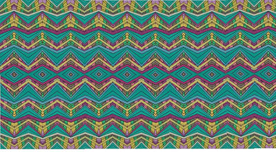 Angelic Drawing - Pink O As Pattern by Modern Metro Patterns and Textiles