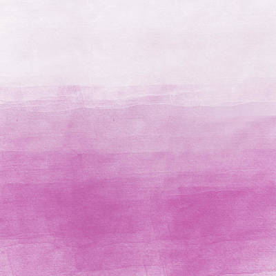 Photograph - Pink Ombre Watercolor by P S