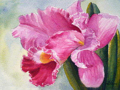 Painting - Pink Orchid by Janet Zeh