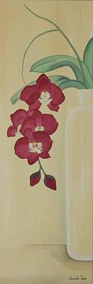 Painting - Pink Orchide In A Vase by Marinella Owens