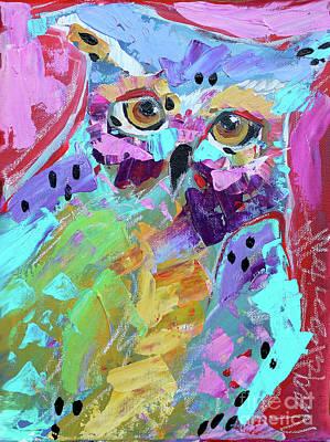 Painting - Pink Owl by Nicole Gaitan