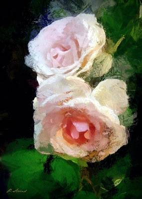 Digital Art - Pink Painted Roses by Patricia Strand