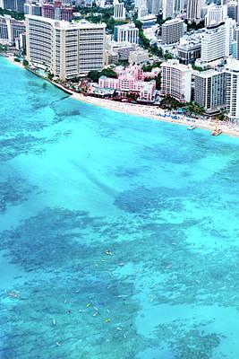 Pink Palace - Waikiki Art Print by Sean Davey