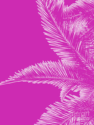 Photograph - Pink Palm Trees In Minimalism by Liesl Marelli