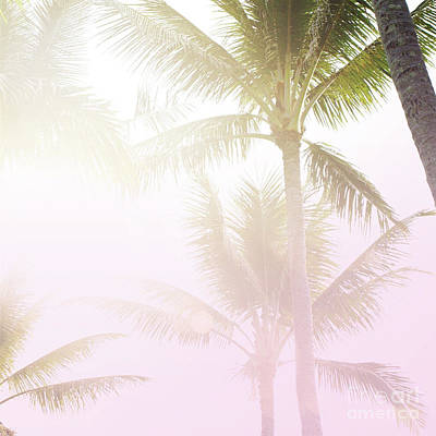 Art Print featuring the photograph Pink Palms by Cindy Garber Iverson
