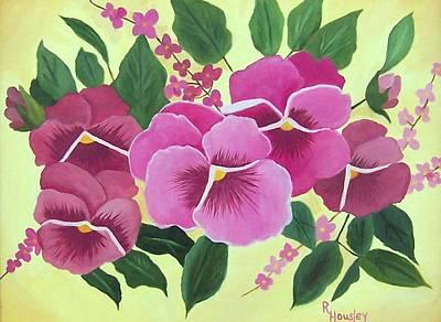 Pink Pansies Sold Art Print by Ruth  Housley