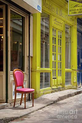 Photograph - Pink Paris Chair by Brian Jannsen