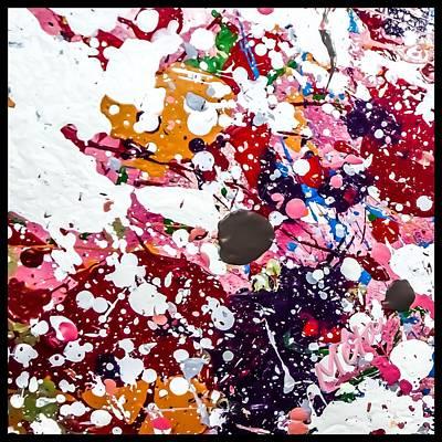 Spatter Mixed Media - Pink Party Splash by Meta Ali