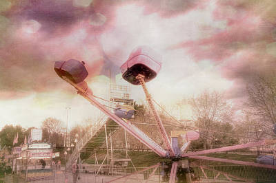 Photograph - Pink Pastel Carnival Art For Nursery by Joann Vitali