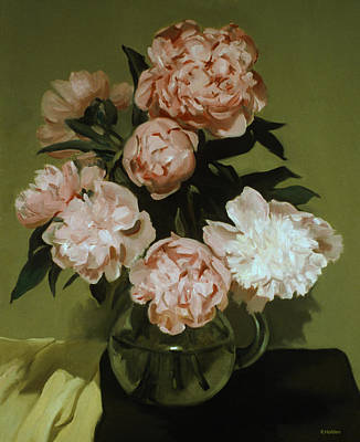 Painting -  Peonies Front And Center by Robert Holden