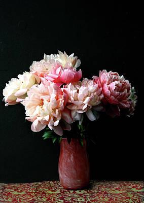Photograph - Pink Peonies In Pink Vase by Nareeta Martin