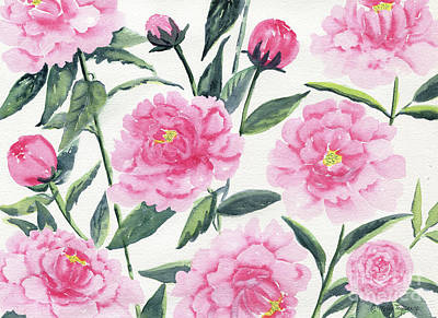 Painting - Pink Peonies by Melly Terpening