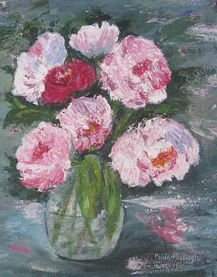 Painting - Pink Peonies by Paula Pagliughi