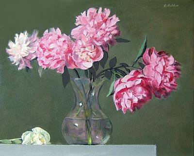 Painting - Pink Peonies Walking The Plank by Robert Holden
