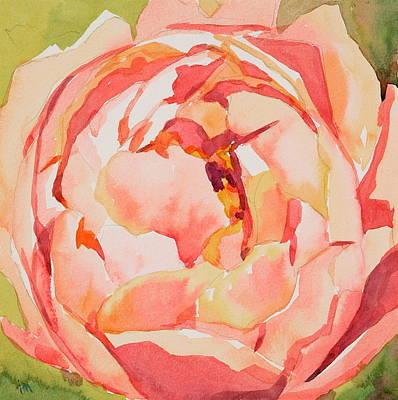 Pink Peony Glow  Art Print by Jo  Mackenzie