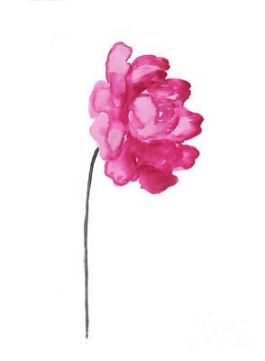 Hot Wall Art - Painting - Pink Peony, Nursery Decor Wall Art Print, Abstract Illustration by Joanna Szmerdt