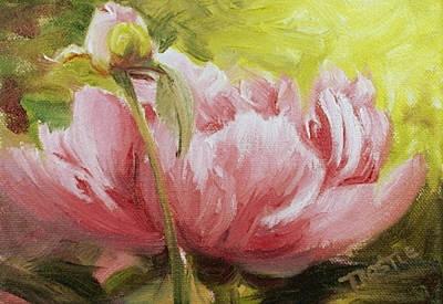 Pink Peony Print Art Print by Patti Trostle
