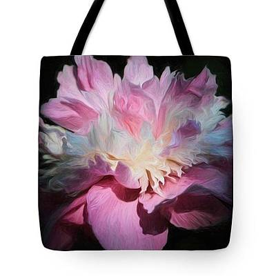Photograph - Pink Peony-tote by Donna Kennedy