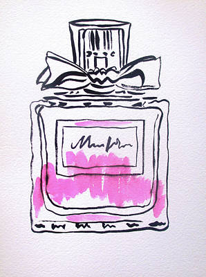 Painting - Pink Perfume Bottle by Sacha Grossel