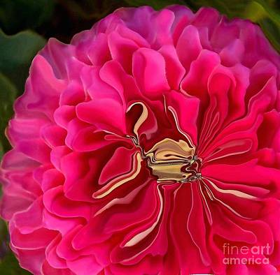 Pink Perky Zinna  Art Print by Patricia A Williams