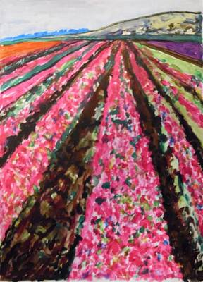 Painting - Pink Perspectives by Esther Newman-Cohen