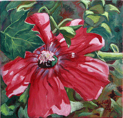 Painting - Pink Peruvian Flower by Libby  Cagle