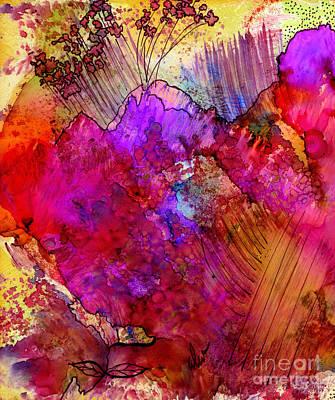 Colored Pencils - Pink Petals II by Angela L Walker