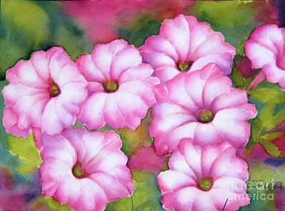 Painting - Pink Petunias by Inese Poga