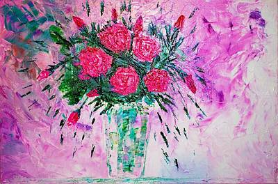 Art Print featuring the painting Pink by Piety Dsilva
