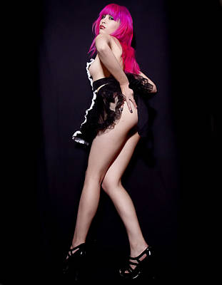 Photograph - Pink Pinup 13 by Joel Gilgoff