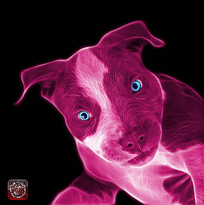Painting - Pink Pitbull 7435 - Bb by James Ahn