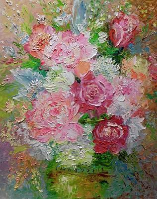Rose Pleasure Painting - Pink Pleasures by Marina Wirtz