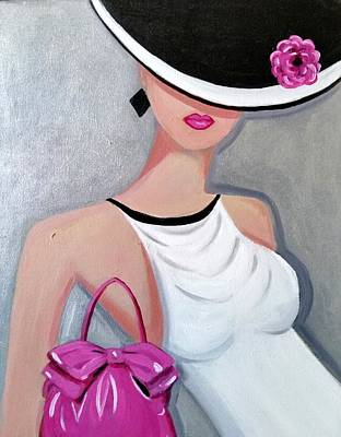 Painting - Pink Pocketbook by Rosie Sherman