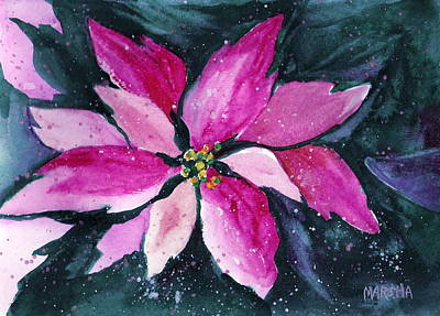 Painting - Pink Poinsettia by Marsha Woods