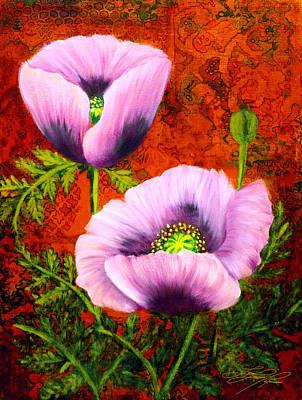 Pink Poppies Art Print by Lynn Lawson Pajunen
