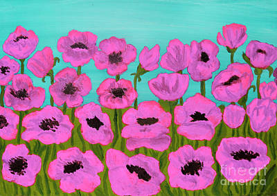 Painting - Pink Poppies, Painting by Irina Afonskaya