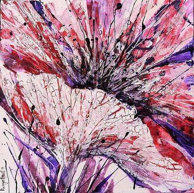 Pink Poppy Blossom 2 Art Print